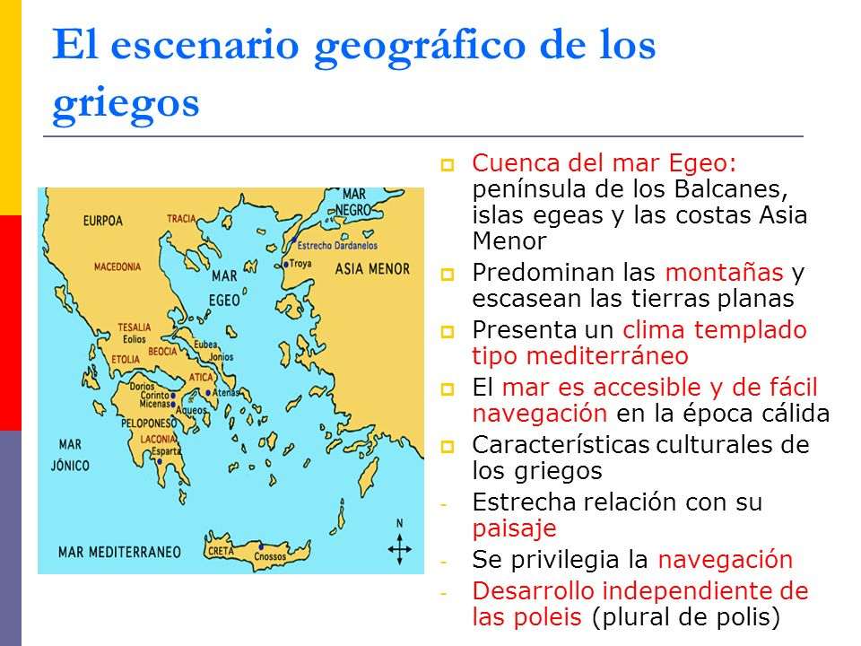 El escenario geográfico de los griegos