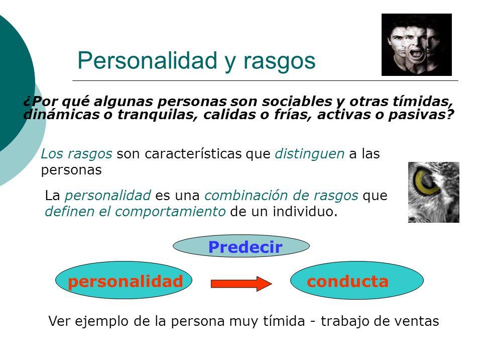Personalidad y rasgos personalidad conducta Predecir