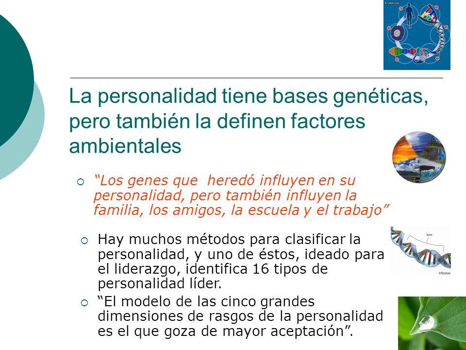 La personalidad tiene bases genéticas, pero también la definen factores ambientales