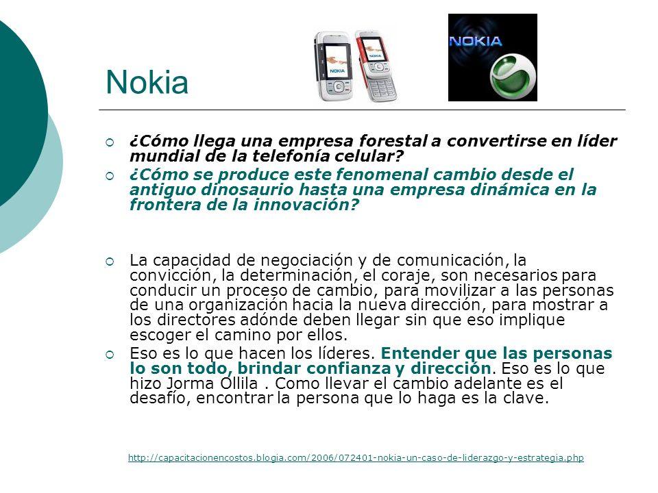 Nokia ¿Cómo llega una empresa forestal a convertirse en líder mundial de la telefonía celular
