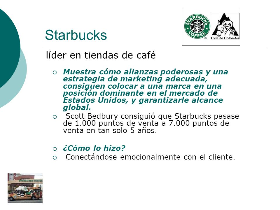 Starbucks líder en tiendas de café