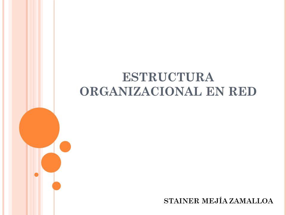 ESTRUCTURA ORGANIZACIONAL EN RED