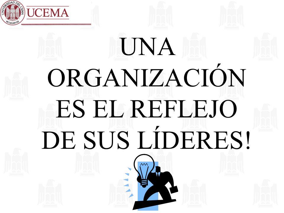 UNA ORGANIZACIÓN ES EL REFLEJO DE SUS LÍDERES!