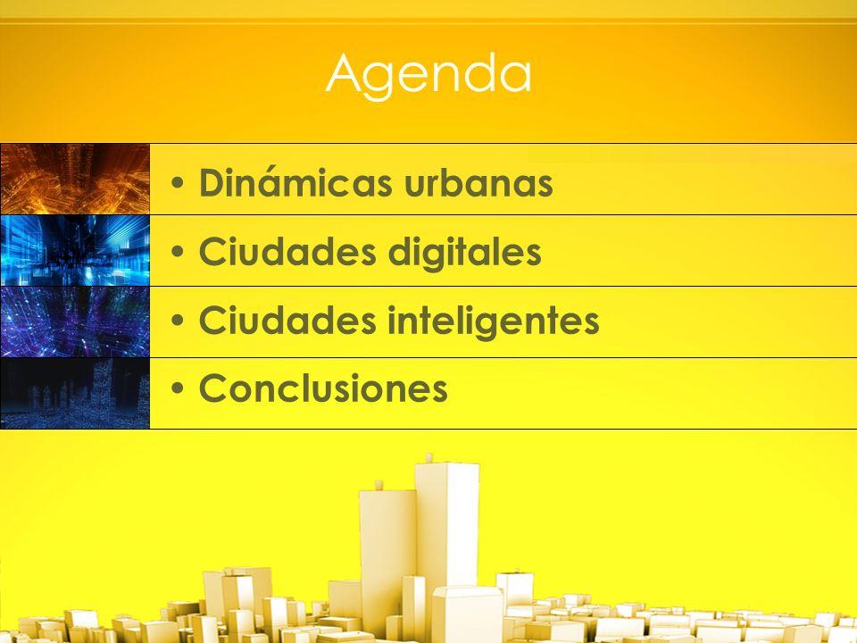 Agenda Dinámicas urbanas Ciudades digitales Ciudades inteligentes