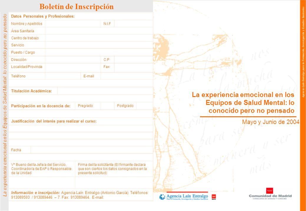 Boletín de Inscripción