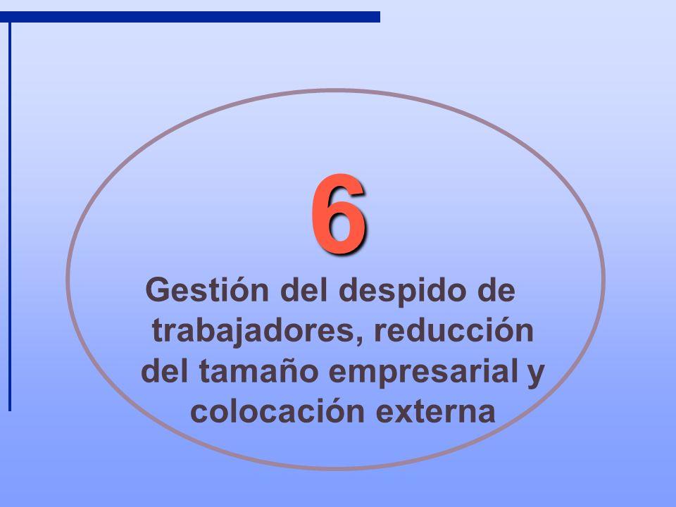 6 Gestión del despido de trabajadores, reducción del tamaño empresarial y colocación externa