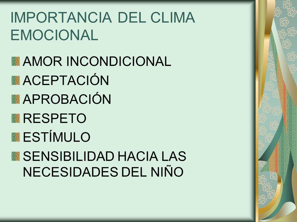 IMPORTANCIA DEL CLIMA EMOCIONAL