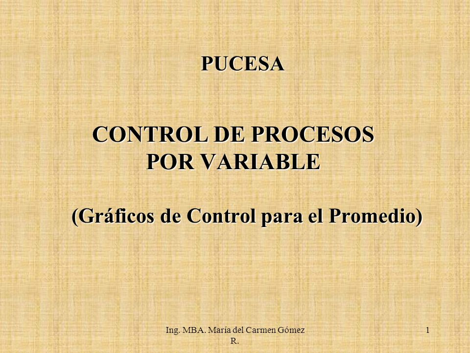 CONTROL DE PROCESOS POR VARIABLE