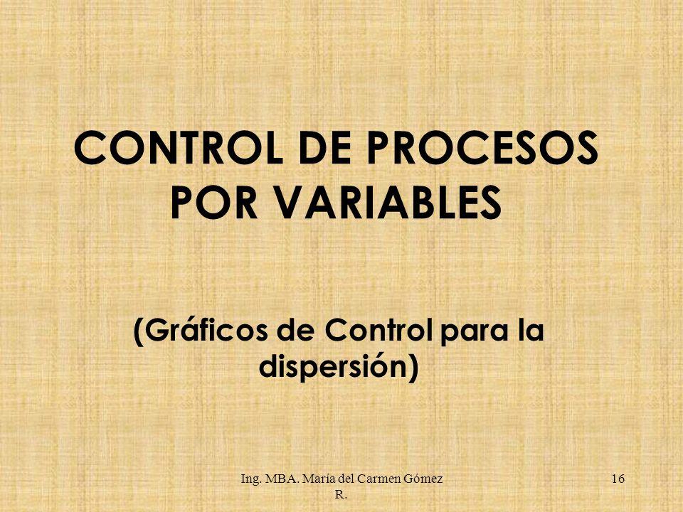 CONTROL DE PROCESOS POR VARIABLES