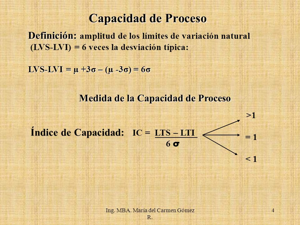 Medida de la Capacidad de Proceso