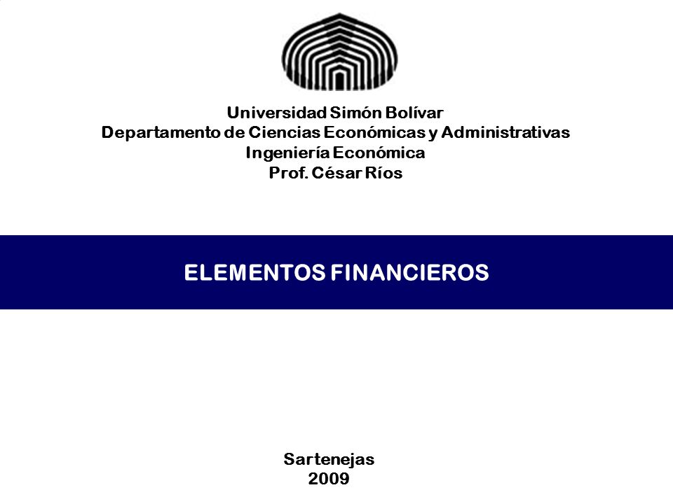 ELEMENTOS FINANCIEROS