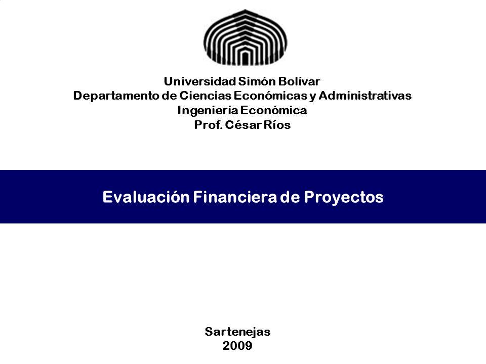 Evaluación Financiera de Proyectos