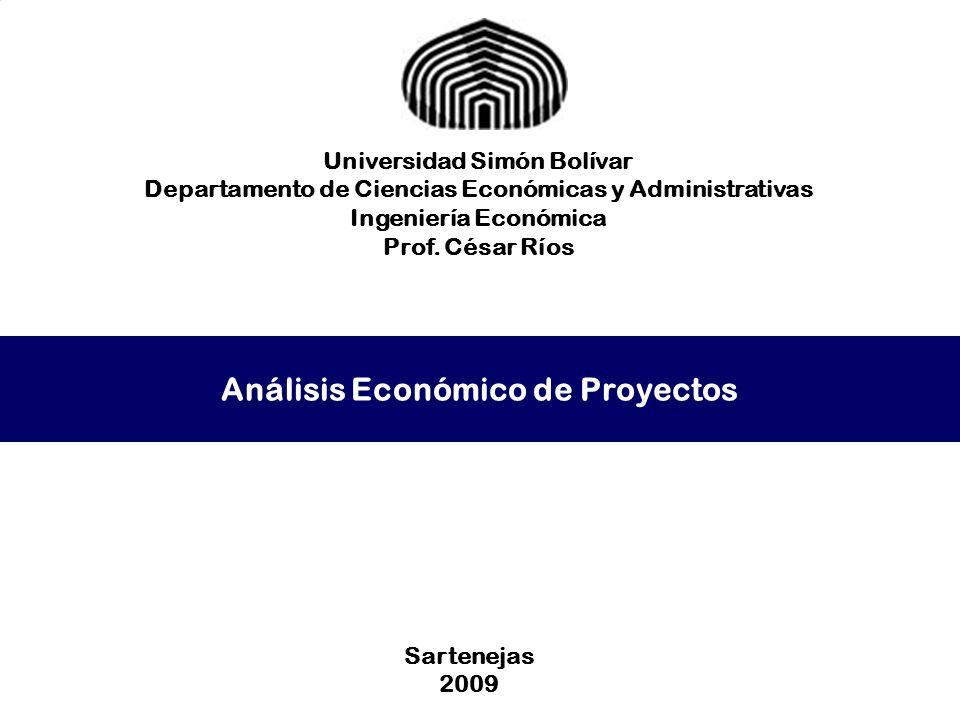 Análisis Económico de Proyectos