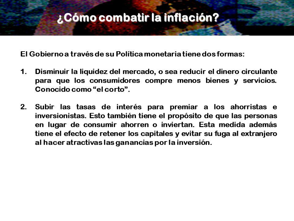 ¿Cómo combatir la inflación