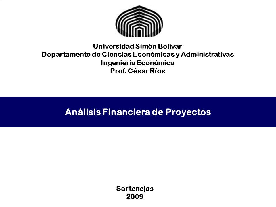 Análisis Financiera de Proyectos