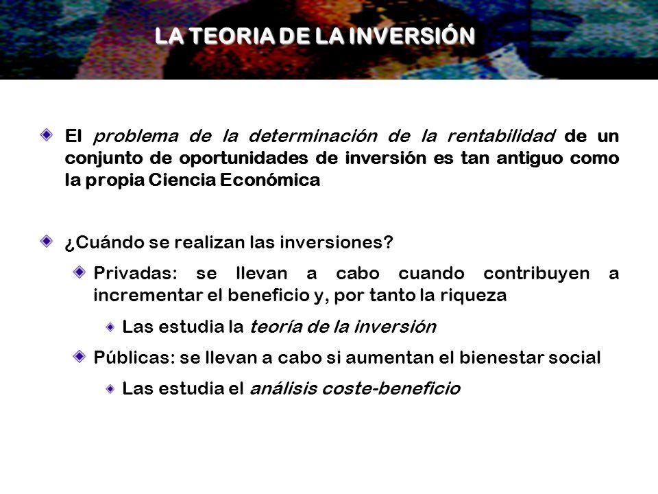 LA TEORIA DE LA INVERSIÓN