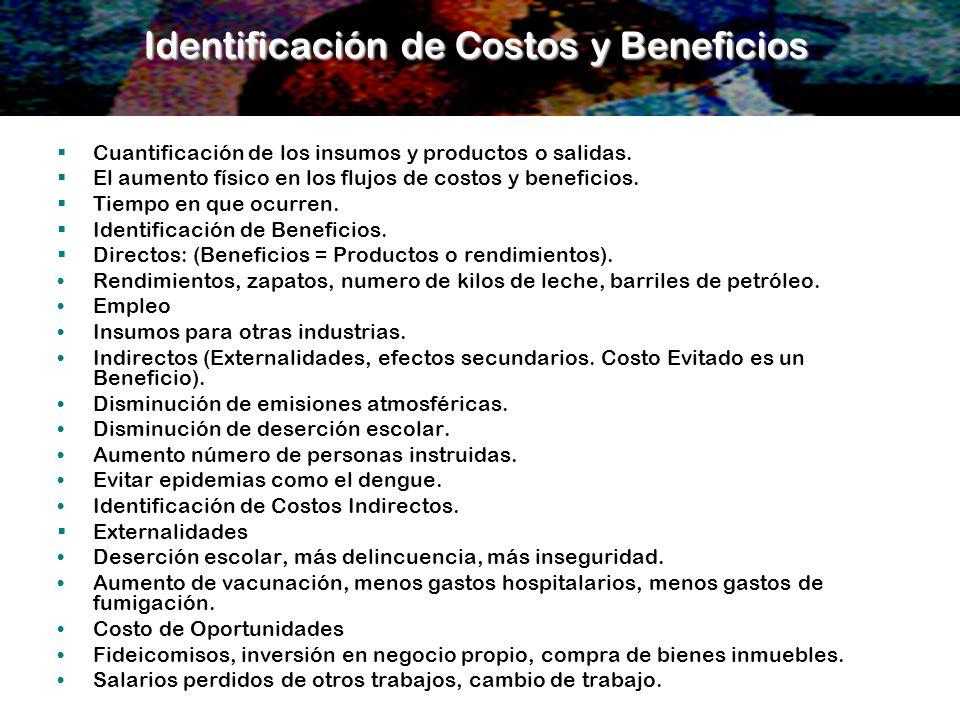 Identificación de Costos y Beneficios
