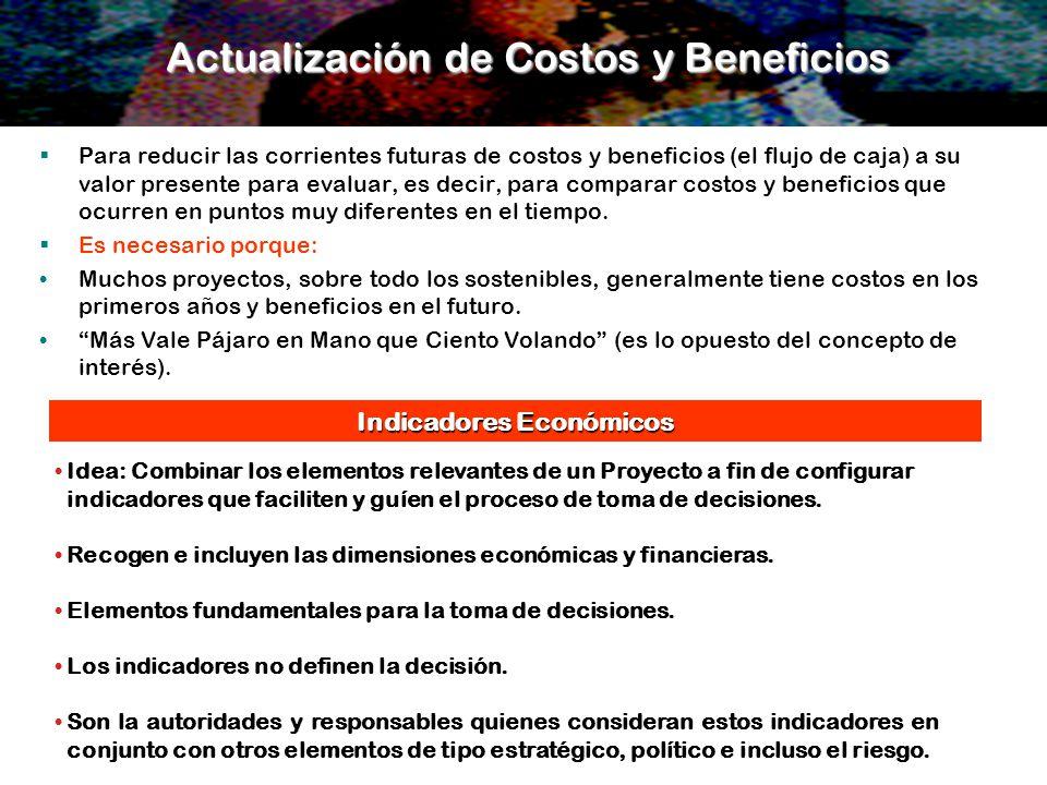 Actualización de Costos y Beneficios