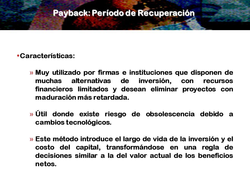 Payback: Período de Recuperación