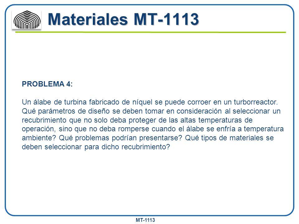 Materiales MT-1113 PROBLEMA 4: