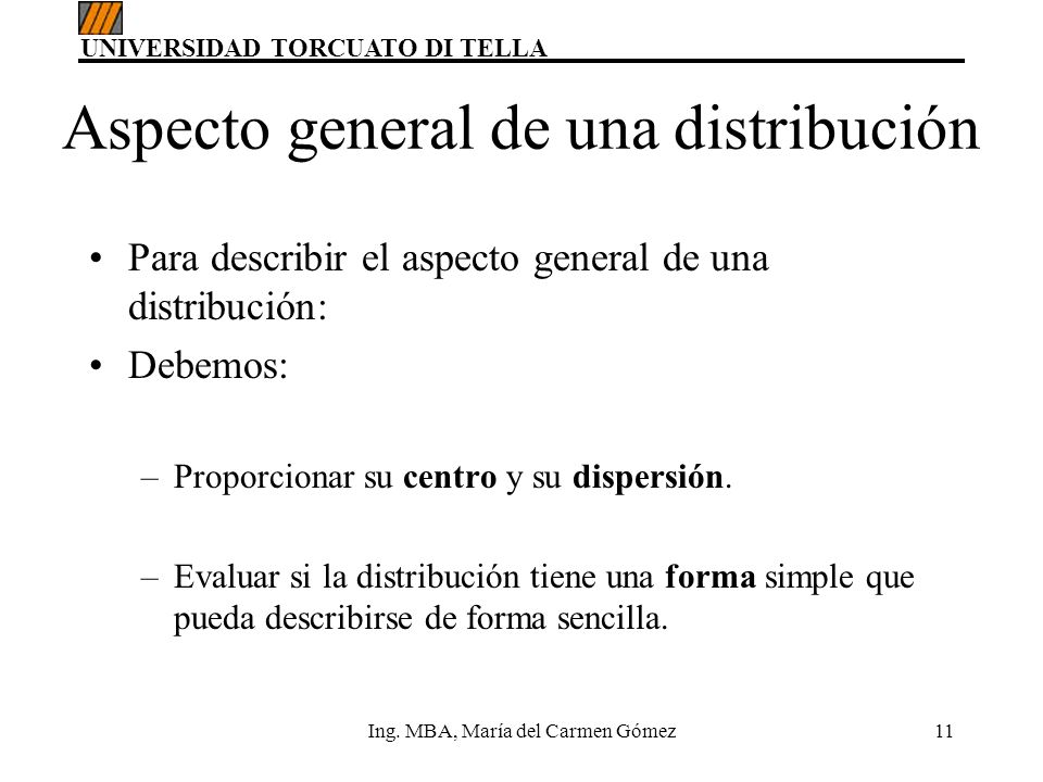 Aspecto general de una distribución