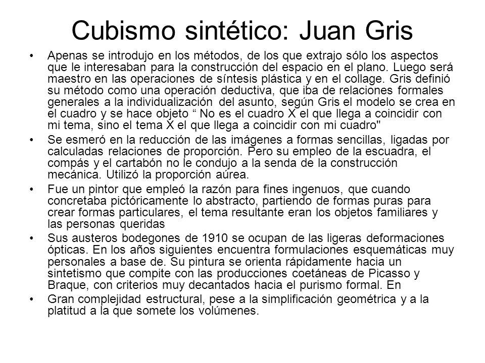 Cubismo sintético: Juan Gris