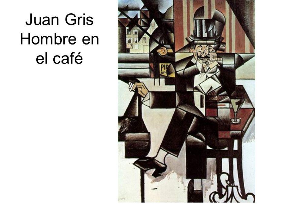 Juan Gris Hombre en el café
