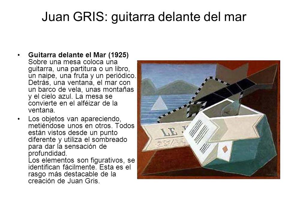 Juan GRIS: guitarra delante del mar