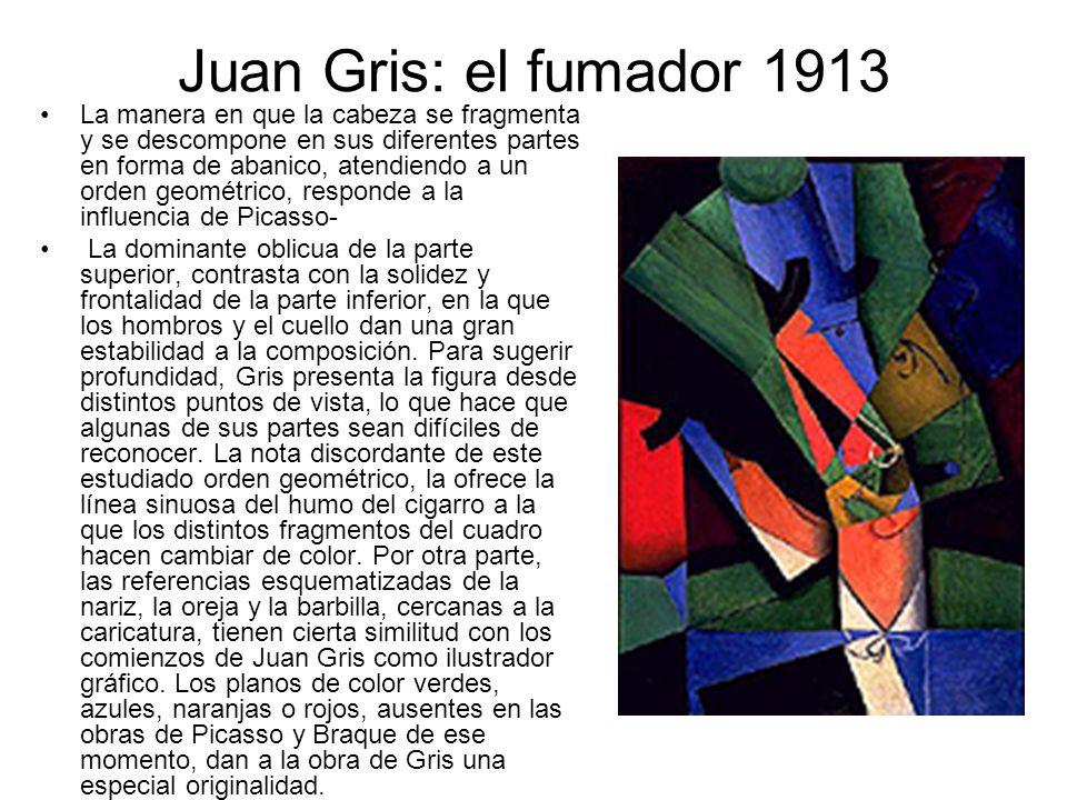 Juan Gris: el fumador 1913