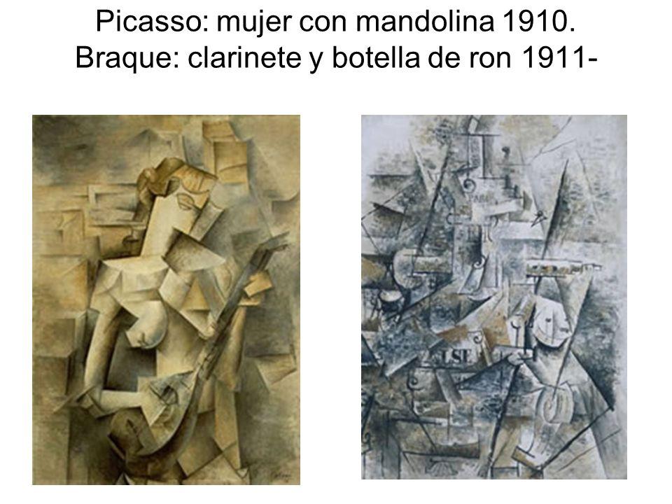 Picasso: mujer con mandolina 1910