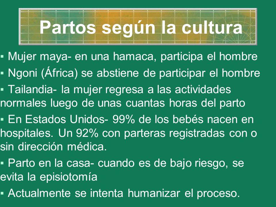 Partos según la cultura