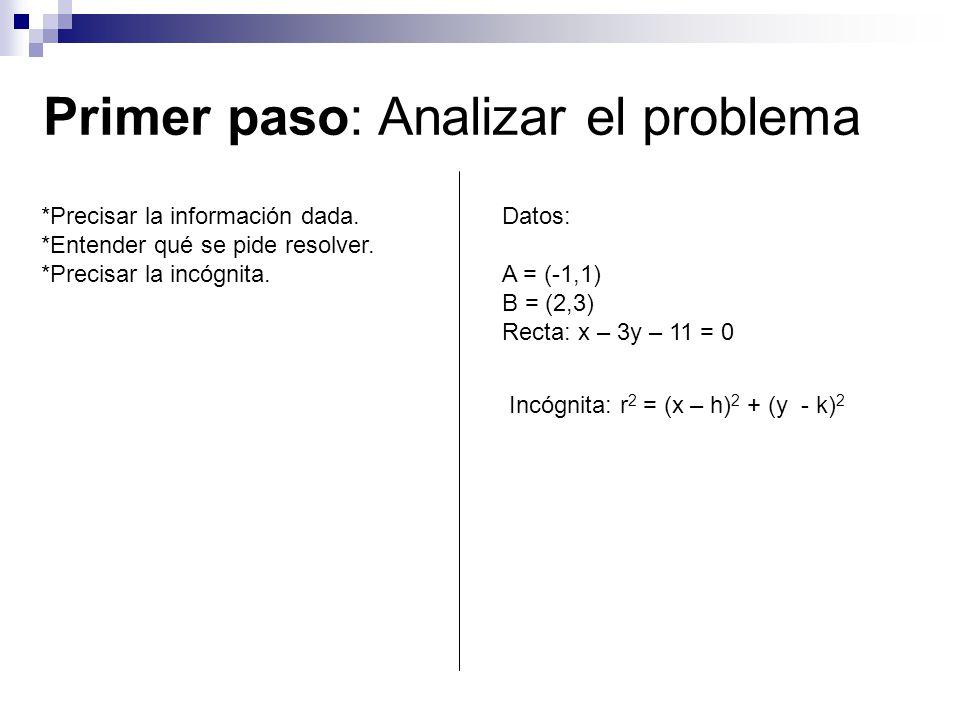 Primer paso: Analizar el problema