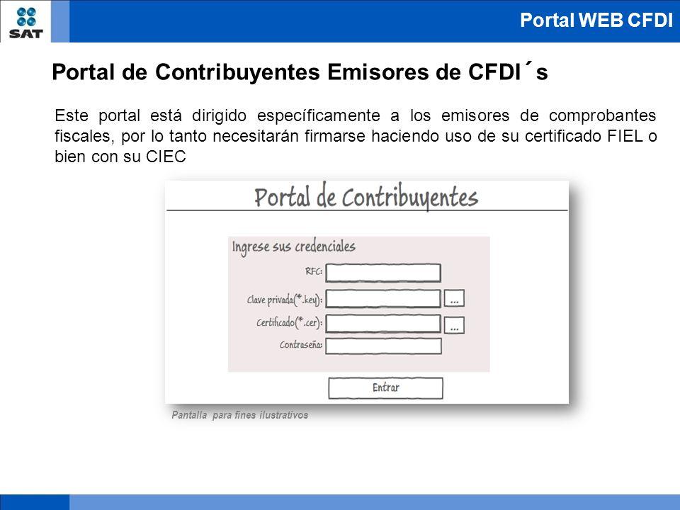 Portal de Contribuyentes Emisores de CFDI´s