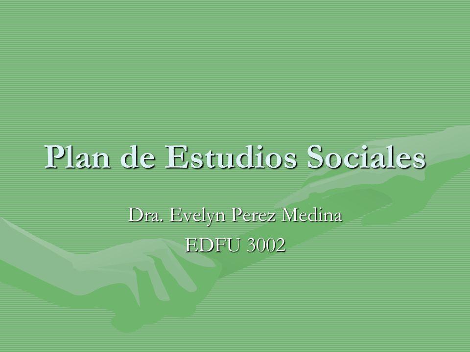 Plan de Estudios Sociales