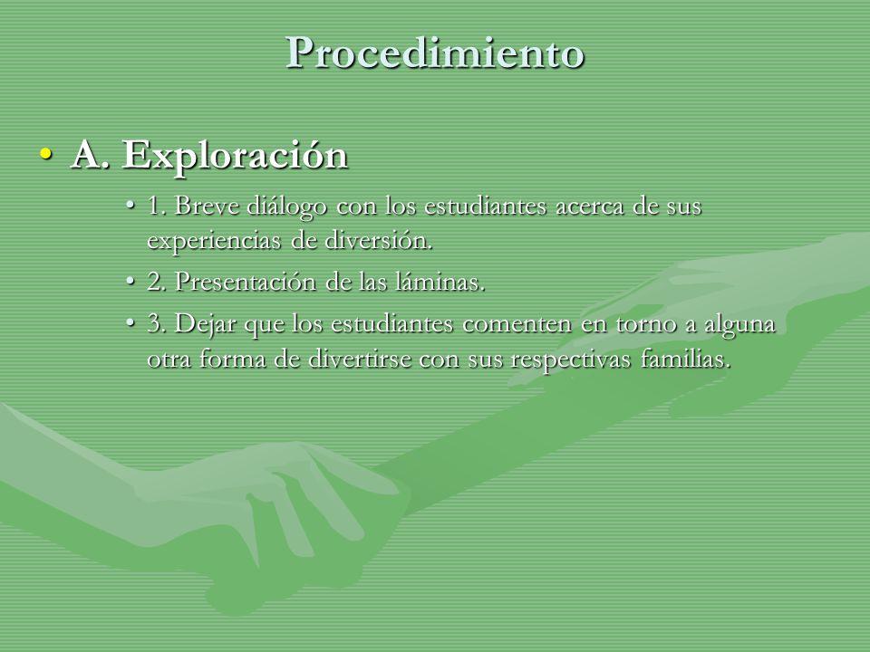 Procedimiento A. Exploración