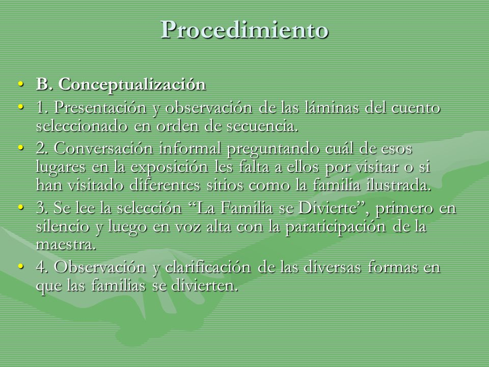 Procedimiento B. Conceptualización