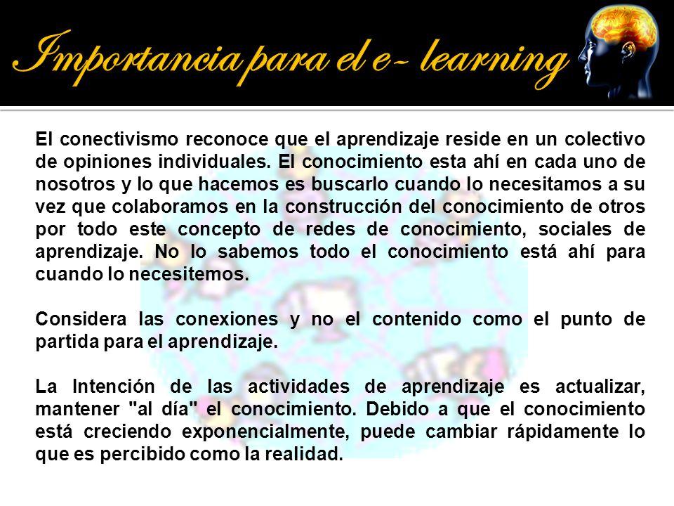 Importancia para el e- learning
