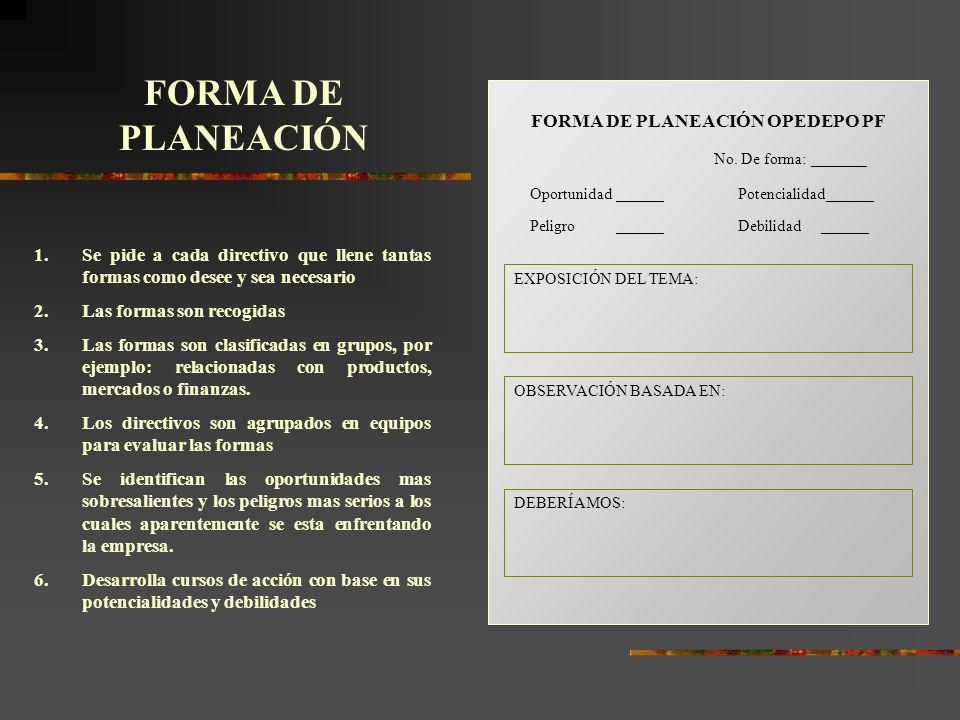 FORMA DE PLANEACIÓN OPEDEPO PF