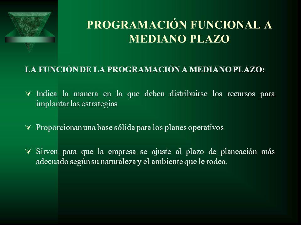 PROGRAMACIÓN FUNCIONAL A MEDIANO PLAZO