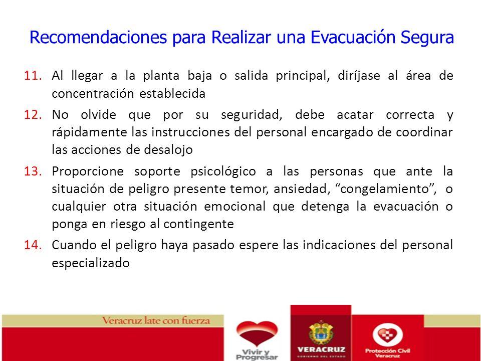 Recomendaciones para Realizar una Evacuación Segura