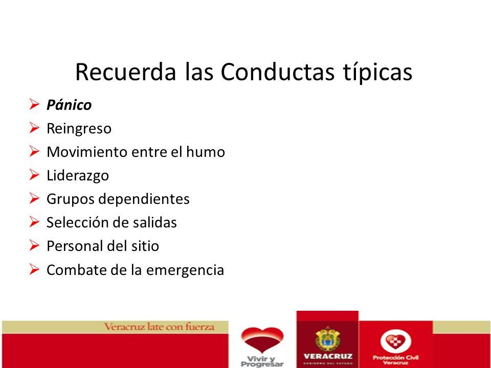 Recuerda las Conductas típicas