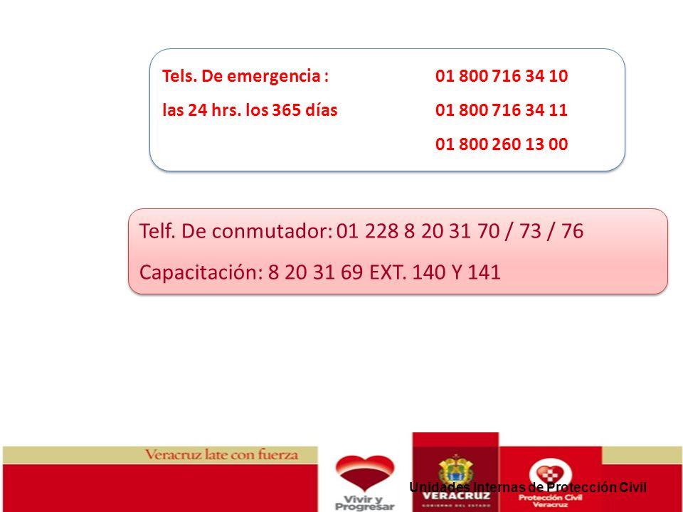 Tels. De emergencia : 01 800 716 34 10 las 24 hrs. los 365 días 01 800 716 34 11. 01 800 260 13 00.
