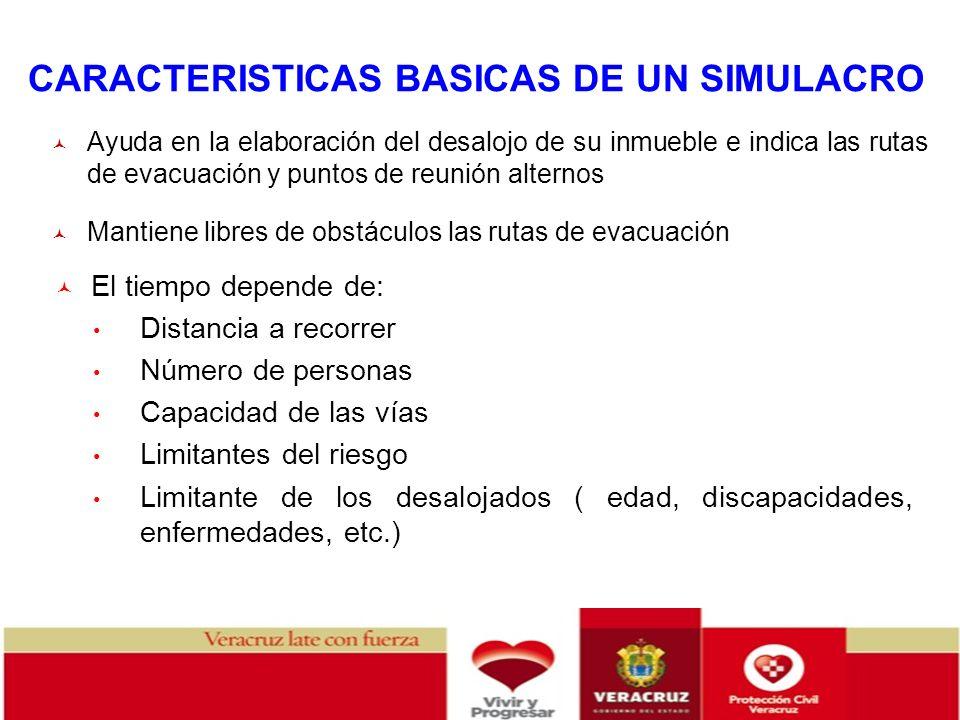 CARACTERISTICAS BASICAS DE UN SIMULACRO
