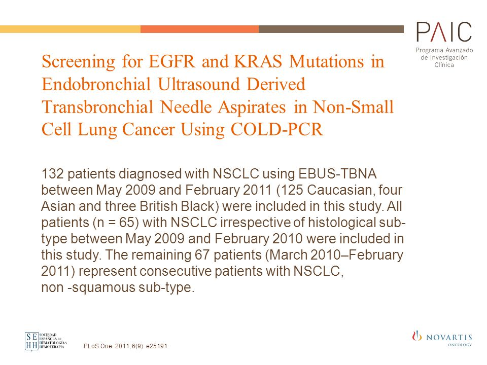Screening for EGFR and KRAS Mutations in Endobronchial Ultrasound Derived Transbronchial Needle Aspirates in Non-Small Cell Lung Cancer Using COLD-PCR