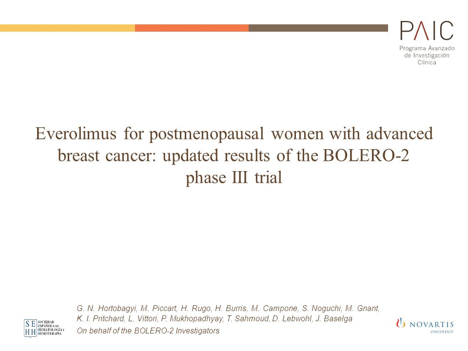 Everolimus for postmenopausal women with advanced breast cancer: updated results of the BOLERO-2 phase III trial