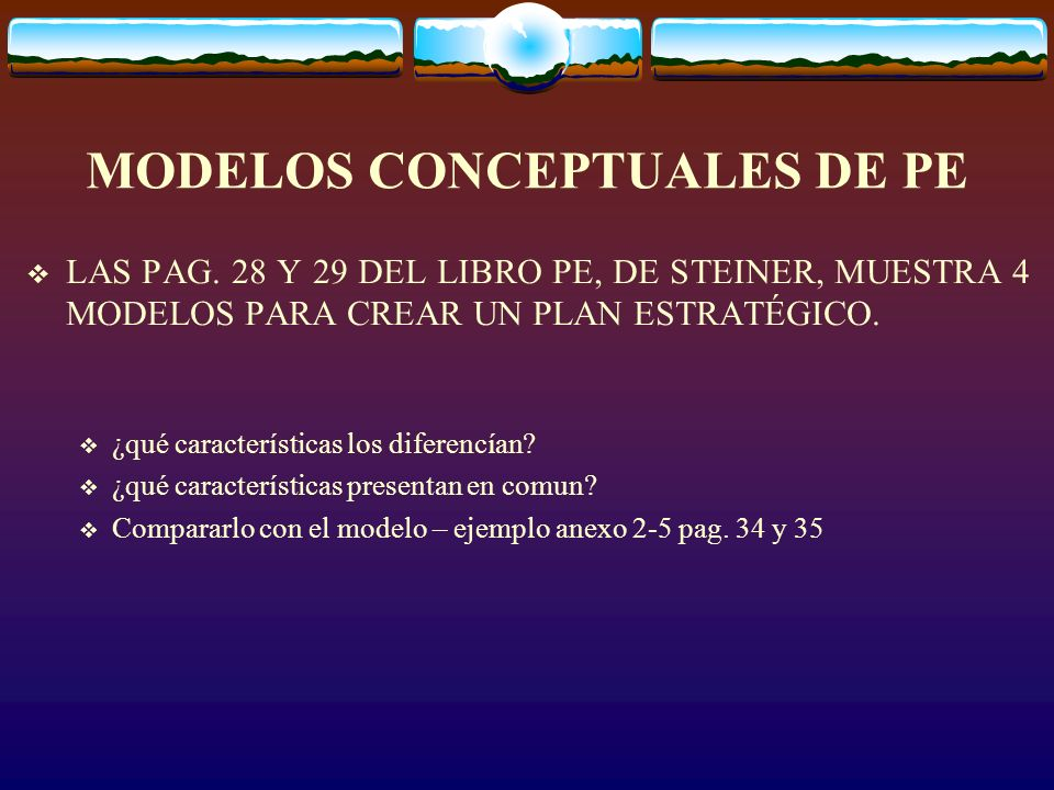 MODELOS CONCEPTUALES DE PE