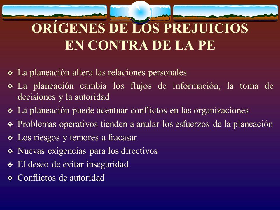 ORÍGENES DE LOS PREJUICIOS EN CONTRA DE LA PE