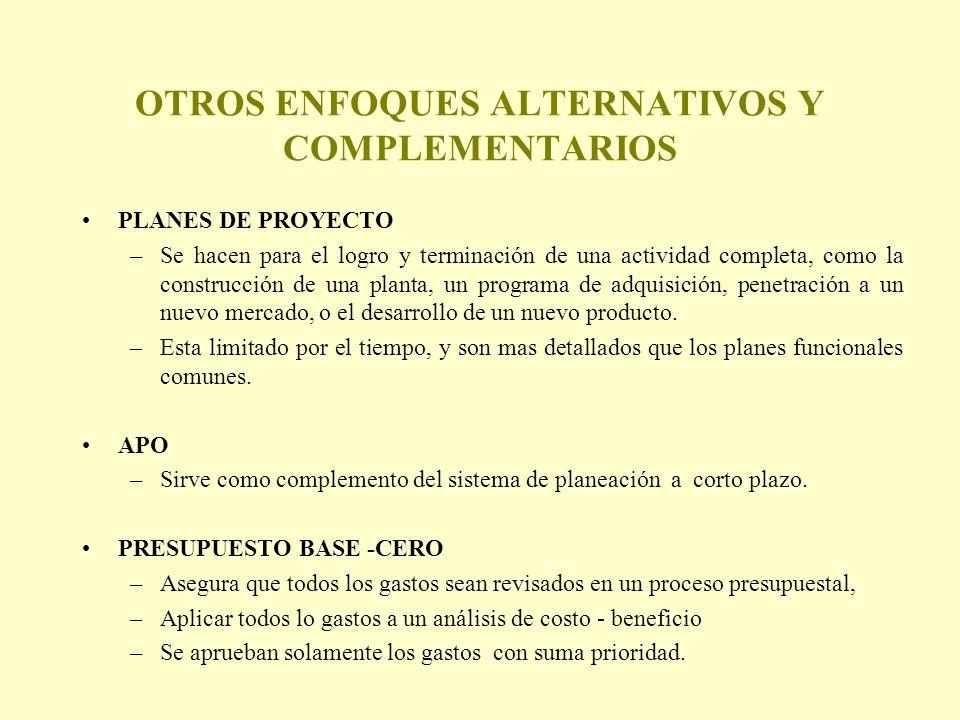 OTROS ENFOQUES ALTERNATIVOS Y COMPLEMENTARIOS