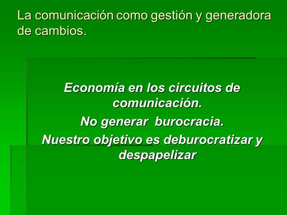 La comunicación como gestión y generadora de cambios.