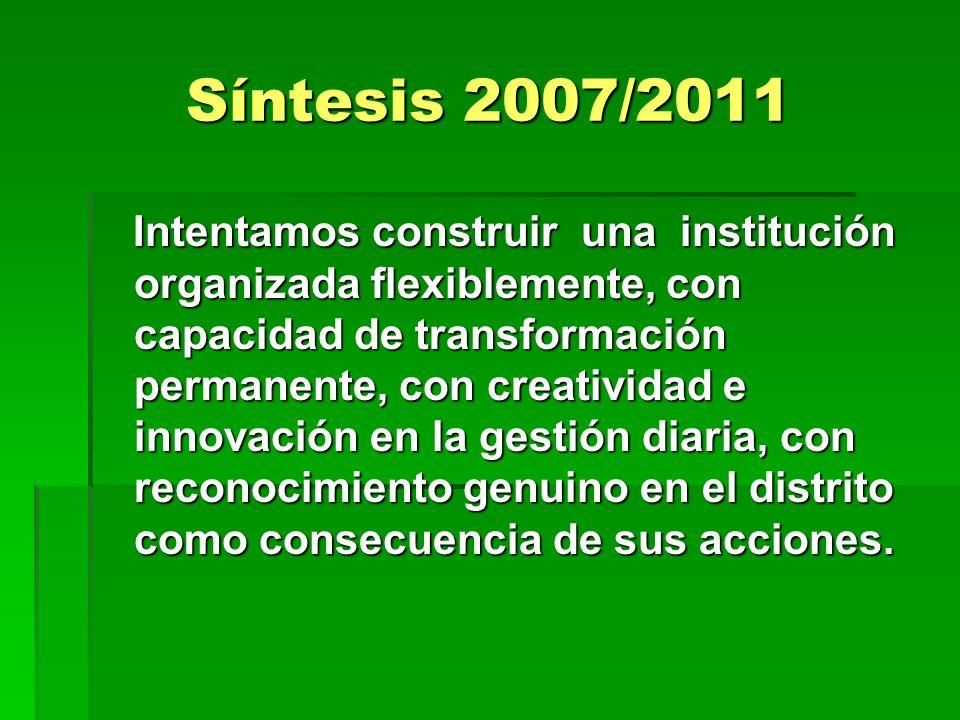 Síntesis 2007/2011